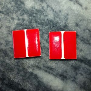 Vintage 80's Square Earrings